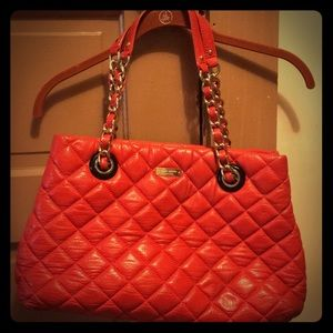 Red large Maryanne Kate Spade quilted satchel